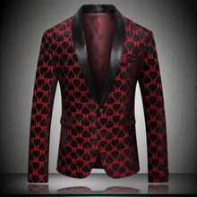 Top US Great Designer Mens Blazer Jacket 2019 Very Good Quality Wedding Party American Stage Wear Male Blazers 5XL Red K9015