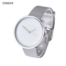 Women's Watch Classic Quartz Analog Stainless Steel Silver Wrist Watch Lady Fashion Quartz Wristwatches Gift,Jan 12