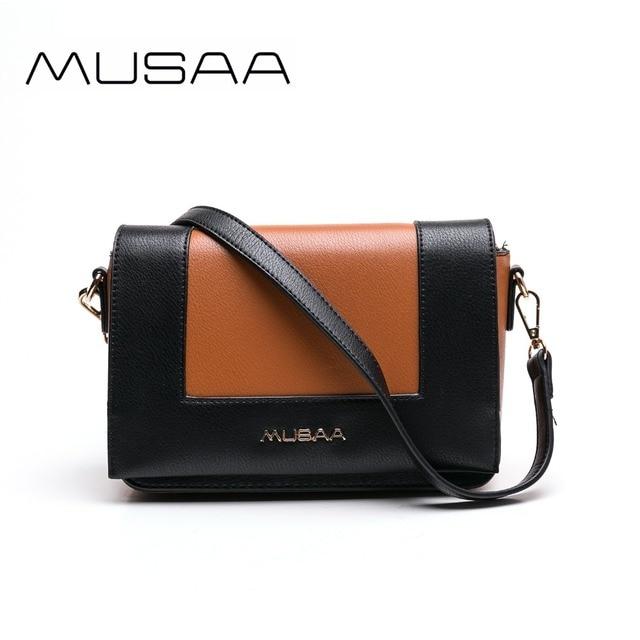 MUSSA Black Vintage High quality 2018 fashion Luxury handbags women designer  handbags Orange Shoulder bag Wholesale MS1031 3a3017fd1607b