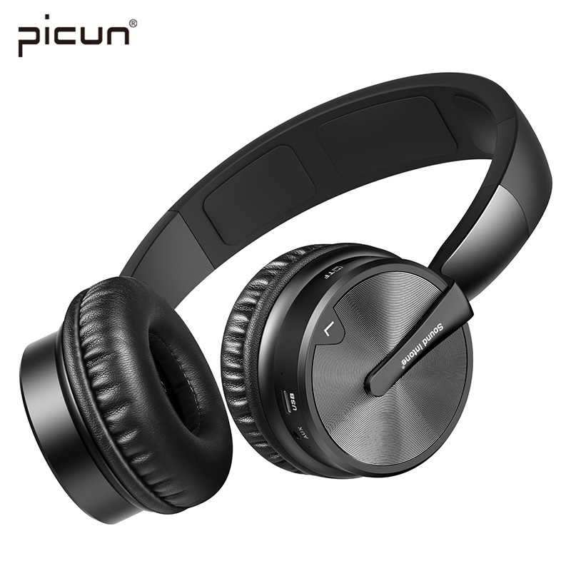 Picun BT16 Wireless Bluetooth Headphone Stereo HiFi Music Headset Super Bass Game Earphone with Microphone For iPod PC Player TF чейнджер yatule hifi ipod usb