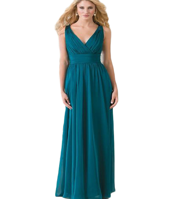 2ef06d4c25 2017 Cheap Jasmine Vintage Plus Size Long Bridesmaid Dresses V Neck Teal  Green Chiffon Lace Hollow Back Wedding Guest Dress