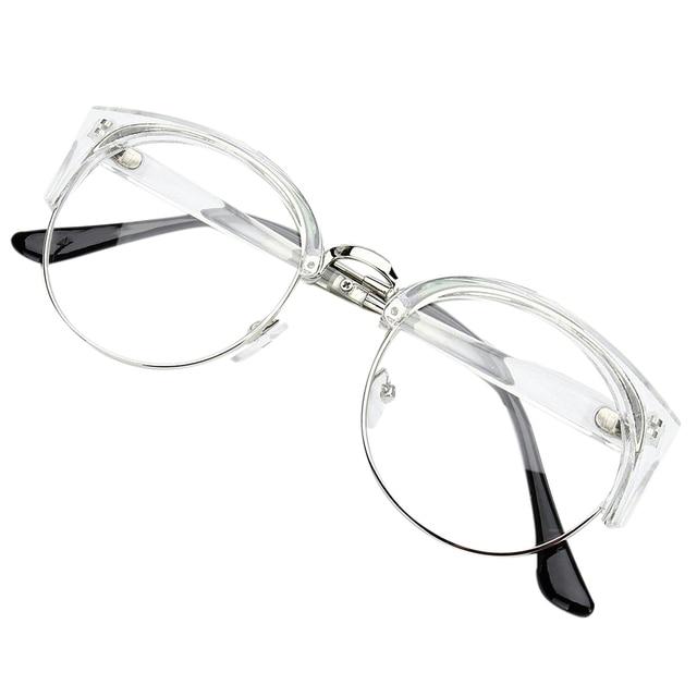 Retro Style Wanita Pria Putaran Kacamata tebal Batal Lens Kacamata Metal Frame  Kacamata 6 Warna ec83c447af