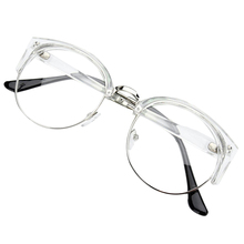 Retro Style Women Men Round Nerd Glasses Clear Lens Eyewear Metal Frame 6 Colors