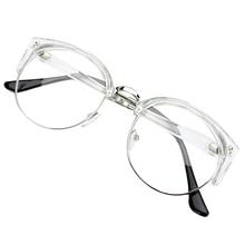 Retro Style Women Men Round Nerd Glasses Clear Lens Eyewear Metal Frame Glasses 6 Colors metal frame glasses page 6