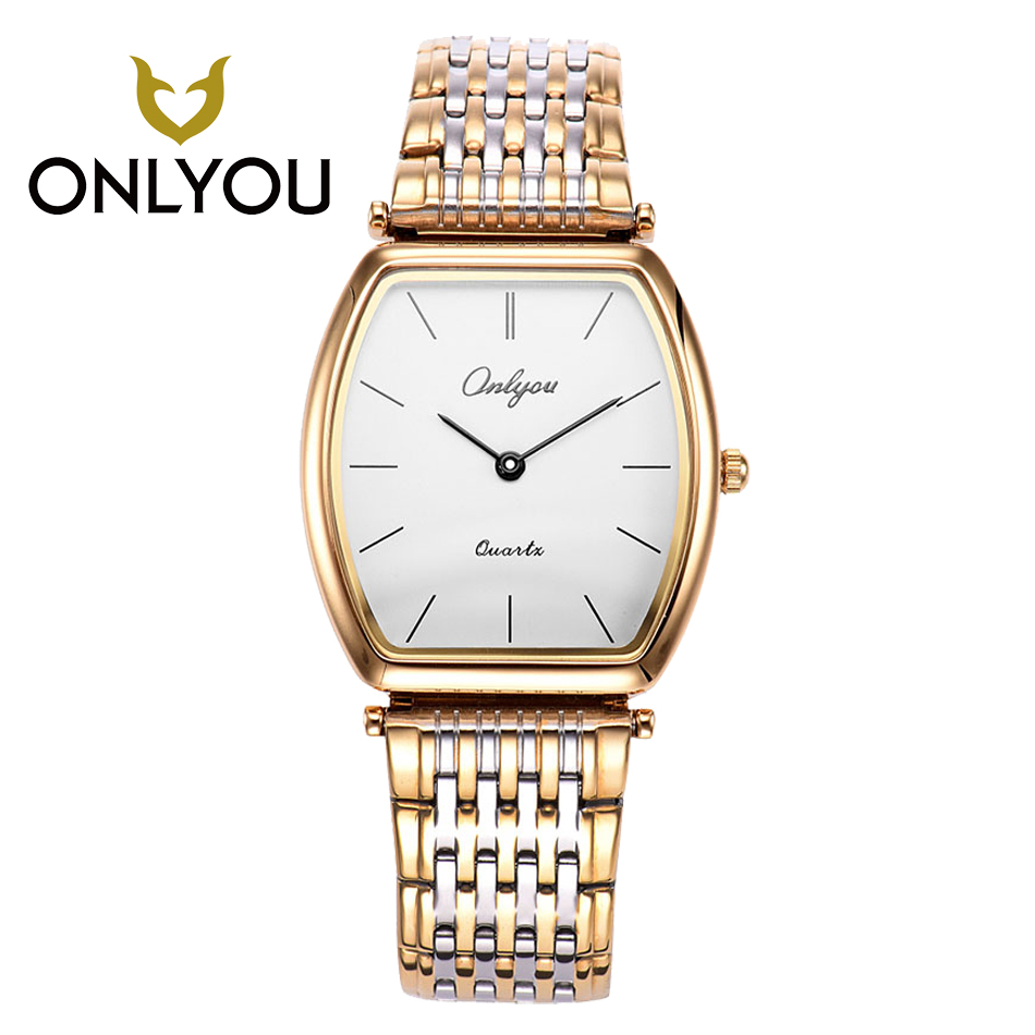 ONLYOU high quality Rose women DW Watch Business Leisure Lover Watch Exquisite Casual Watches Square Stainless Steel Band Wrist Наручные часы