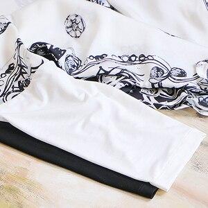 Image 5 - Bluz kadın üst artı boyutu basit tasarım 100% ipek yama Modal O boyun bırak omuz Modal kollu gevşek üst yeni moda