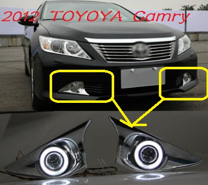 Camry fog light ,2012;Free ship!Camry daytime light,2ps/set+wire ON/OFF;optional:Halogen/HID XENON+Ballast,Camry camry mirror lamp 2006 2007 2008 2009 2011 camry fog light free ship led camry turn light camry review mirror camry side light