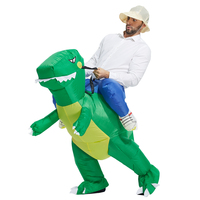Fan Operated Inflatable Dinosaur Suit Adult Fancy Dress Suit Party Halloween Christmas Gift Inflatable Dinosaur Costume
