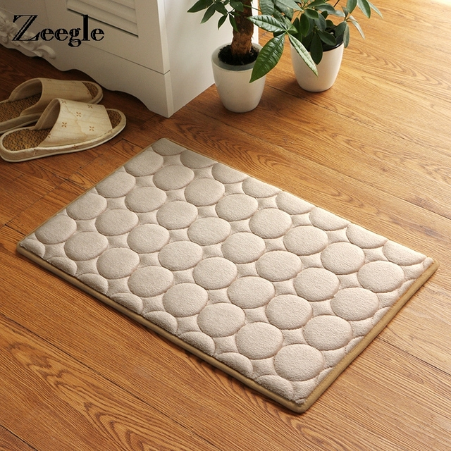 Memory Foam Bathroom Floor Mat Doormats Balcony Kitchen Mats Living ...