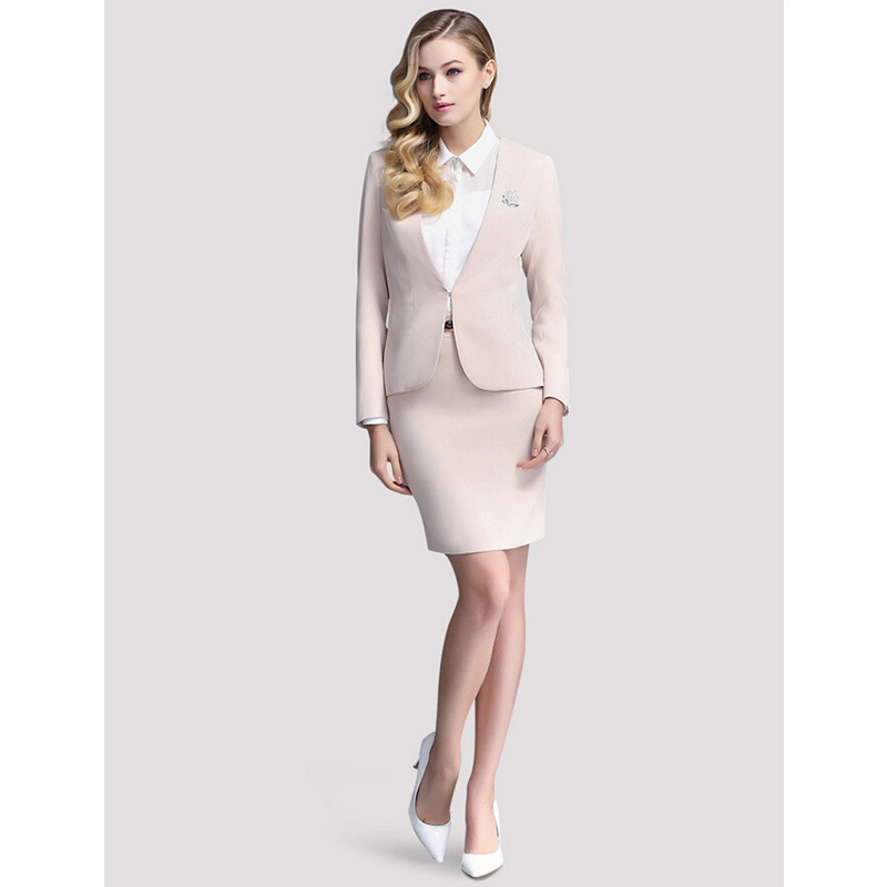 New elegant women's fashion women's suit skirt ladies business office formal suit skirt women's two piece suit (jacket + skirt)