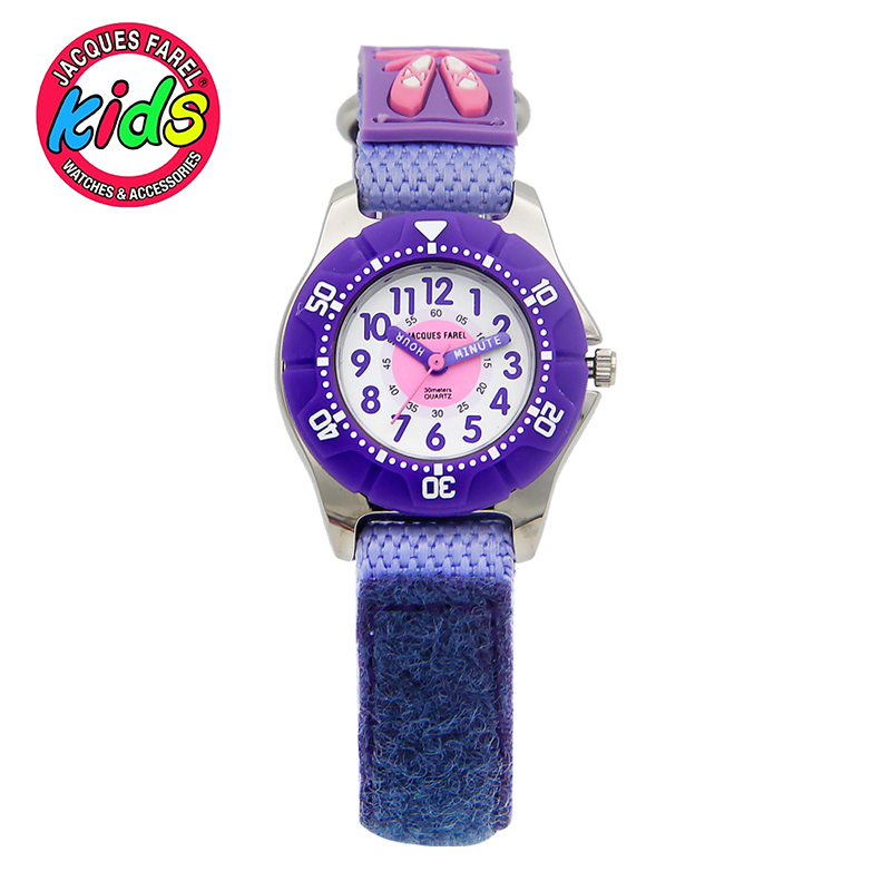 JACQUES FAREL font b Kids b font watch Children watches fashion cute simple water resisitant girl