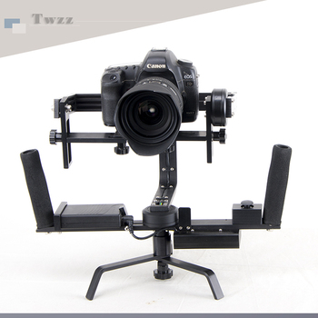 Twzz Handheld Camera Three axis Stabilizer  Electrokinetic Gyroscope Gimbal Dual Handgrips