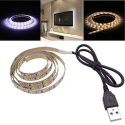 شريط ليد مزود بيو إس بي مصباح 2835SMD DC5V مرنة LED شريط ضوء الشريط 1M 2M 3M 4M 5M HDTV التلفزيون سطح المكتب شاشة الخلفية التحيز الإضاءة
