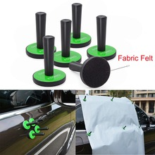 FOSHIO 6PCS Car Vinyl Wrap Felt Magnetic Holder Strong Gripper Carbon Film Wrapping Magnet Fixer Sticker Styling Tool