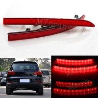 Red Lens Auto LED Rear Reflectors Light For Volkswagen VW Tiguan 2008 2015 Car Tail Fog