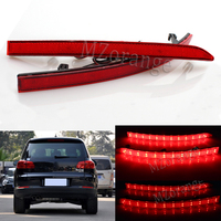 Red Lens Auto LED Rear Reflectors Light For Volkswagen VW Tiguan 2008 2015 Car Tail Fog