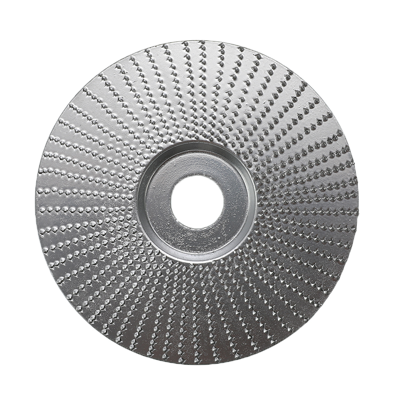 4 Inch Wood Angle Grinding Wheel Sanding Carving Rotary Tool Abrasive Disc For Angle Grinder Tungsten Carbide Coating 5/8 Bore