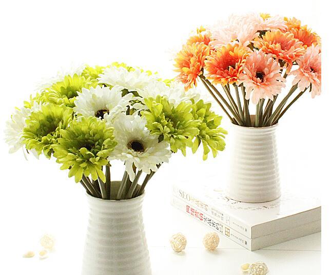 20pcs 인공 실크 gerbera chrysanthemi 꽃 chrysan 가정과 파티 장식 꽃 축제 무료 배송