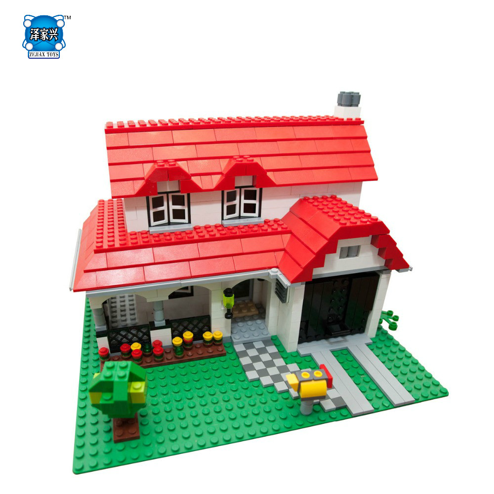 761PcsAmerican Style House Building Series Set Children Compatible legoing Educational Building Blocks Brick Figures Toy a toy a dream lepin 24027 city series 3 in 1 building series american style house villa building blocks 4956 brick toys