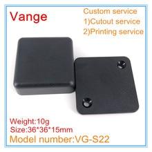 10 шт./лот мини форма сделано корпус черный ABS пластик Материал коробка корпус 36*36*15 мм с винтами для провода разъем