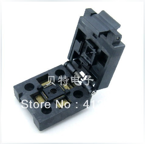 Import QFP80/FPQ-80-0.4-01 burning test socket adapter 0.4mm pitch import ots 28 0 65 01 burning seat tssop28 test programming