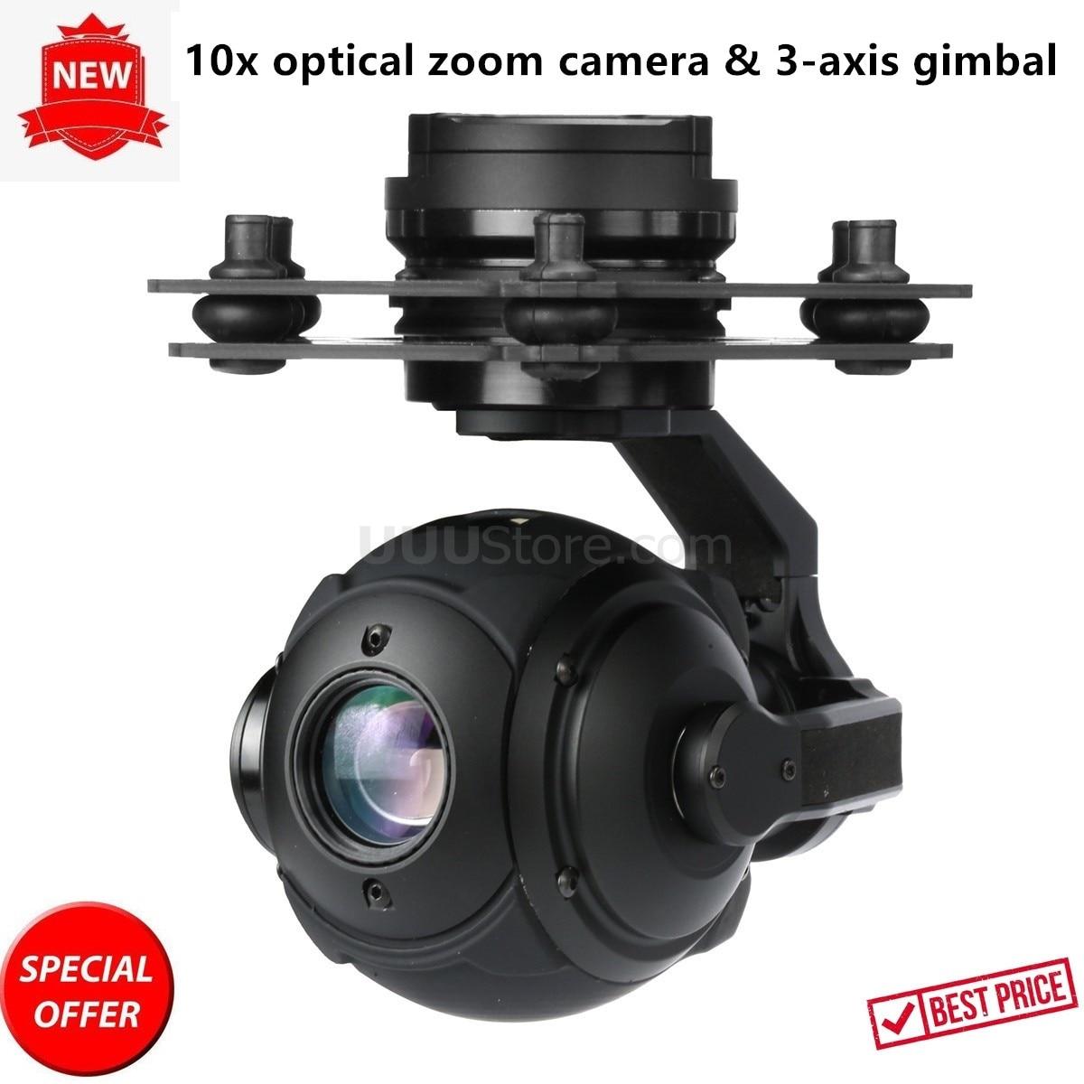 T10X-Pro FPV sphérique 10x zoom optique 1/3 CMOS caméra avec 3 axes cardan mise à niveau de Tarot PEEPER T10X