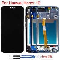 Wyświetlacz z odciskiem palca dla Huawei Honor 10 ramka wyświetlacza LCD zespół ekranu dotykowego wyświetlacz na Honor 10 COL-L29 LCD