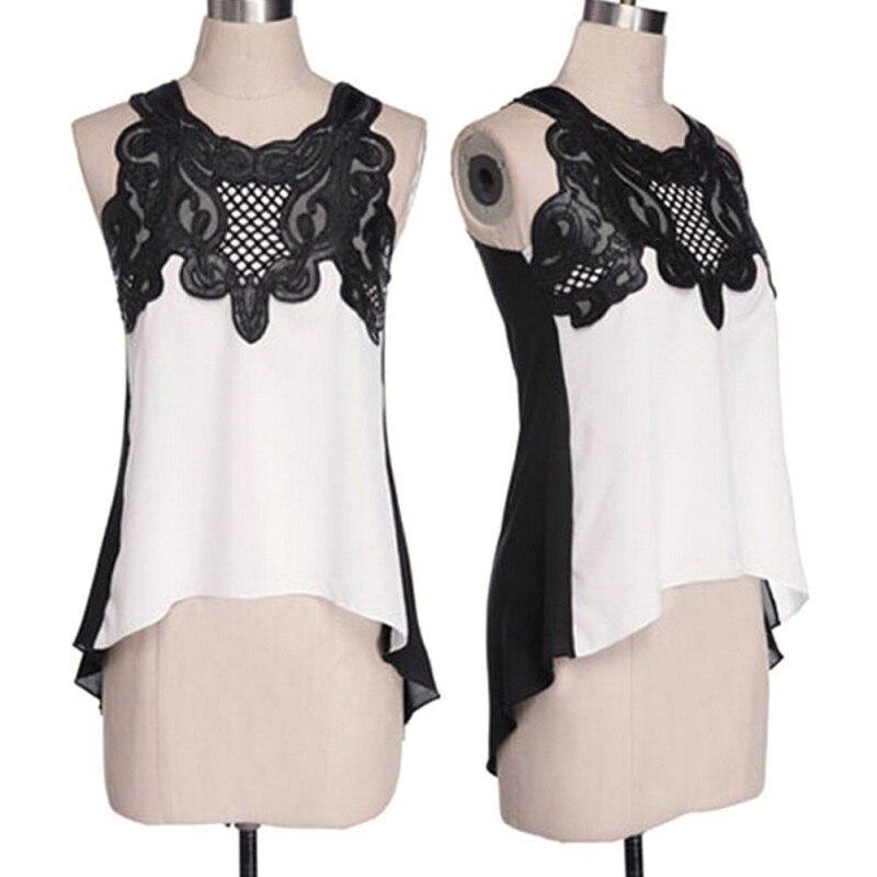 Summer Women's   Blouse   Casual Sleeveless Chiffon   Blouse     Shirt   Summer Tops For Women