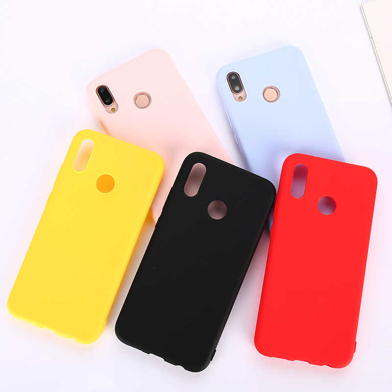 cute Candy Soft phone case For Huawei Y5 ii Y6 ii Y9 2019 Y3 Y5 Y6 2017 Y9 2018 Matte Colorful Cover cases fundas etui phon caso