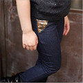 Winter 2016 Girls Leggings Faux Denim Basic Pants Kids Leggings Fashion Thermal Thickening Legging For Girls