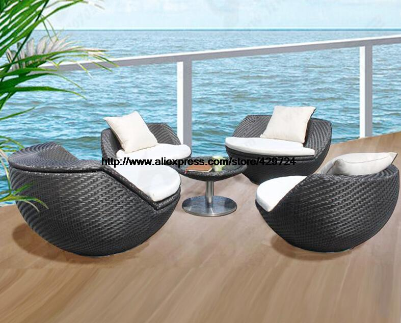 Hot Sale Outdoor Rattan Furniture Ball Shaped Chair Table Leisure ...