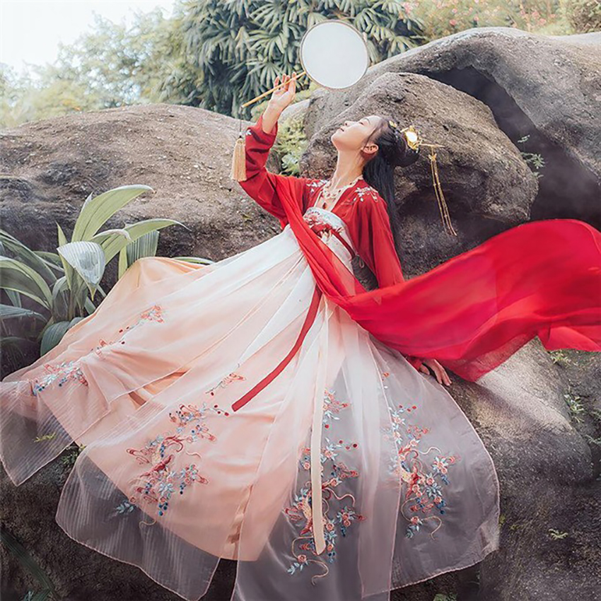 Hanfu Ancient Chinese Costume Dress Koi Traditionl Chinese Clothing for Women Fairy Design Style Daily Festival Outfits Dance 12