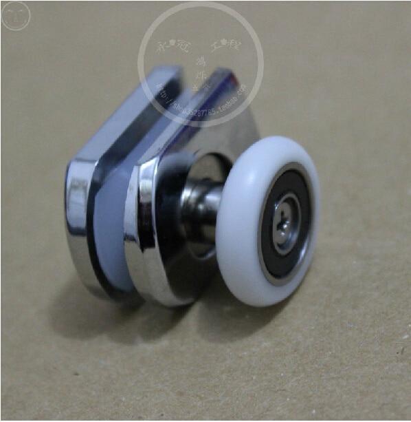 Shower Room Glass Sliding Door Parts Arc Pulley Roller Upper Wheel Swing  Nylon Diameter:26 Mm For 4~6 Mm Glass