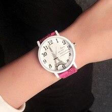 Cindiry Vintage Paris Eiffel Tower Pattern Watch Women's Quartz Watch Women Girls Ladies Students Casual Wristwatch Relojes P10