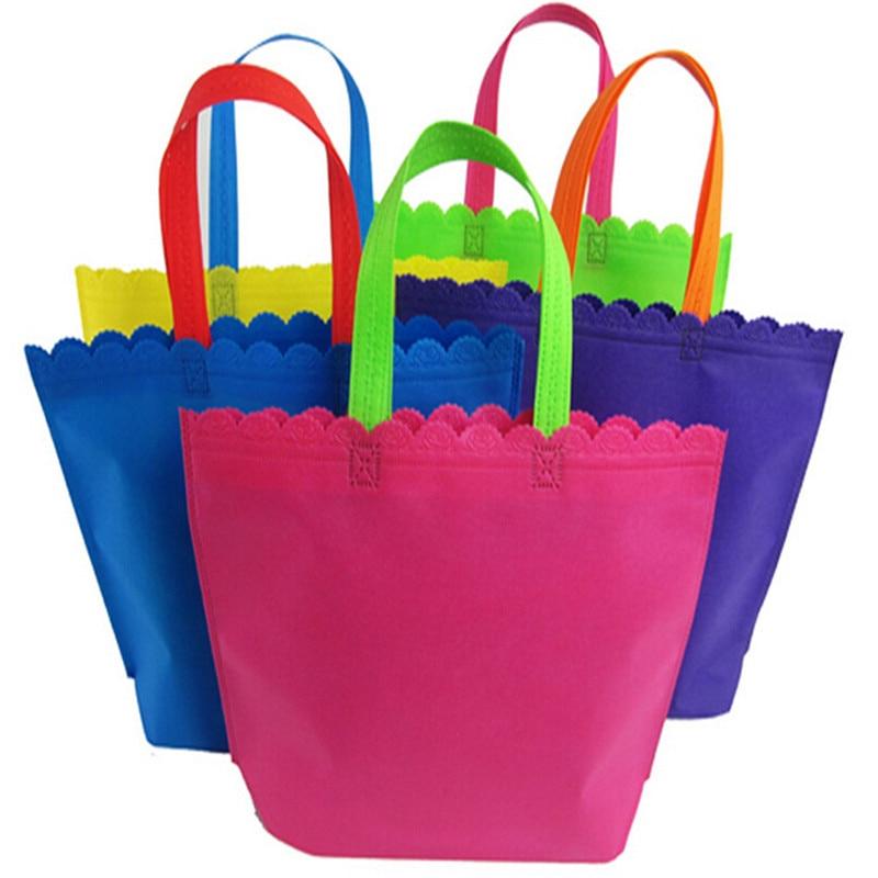 2019 nuevo diseño 500 unids/lote reutilizable no tejido bolsa de compra de reciclaje envío gratis para regalos Feria de uso diario-in Bolsas para compras from Maletas y bolsas    1