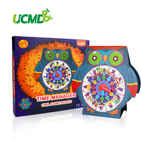 Magnetic Time Management Table Calendar Clock with Weather Season Owl Game Board for Kids Office Supplies Animal Calendars 2019