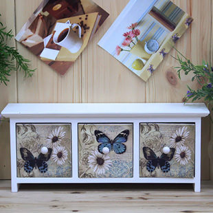 Free Shipping Fashion storage box drawer storage cabinet bedside cabinet decoration box