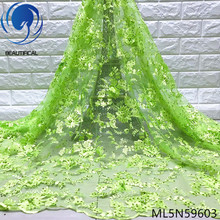 BEAUTIFICAL 3d Lace Beads Rhinestones African French Tulle Embroidery Tissu ML5N596