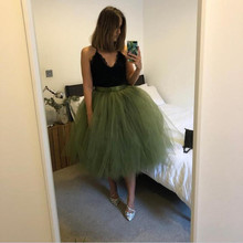 Size Skirt Color Puffy