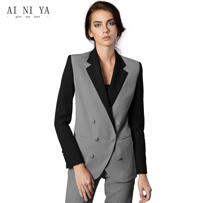Formal Women Business Suits 2 Piece Pant and Jacket Sets Office Ladies Work Wear Uniforms Slim Female Trouser Suits Custom Made