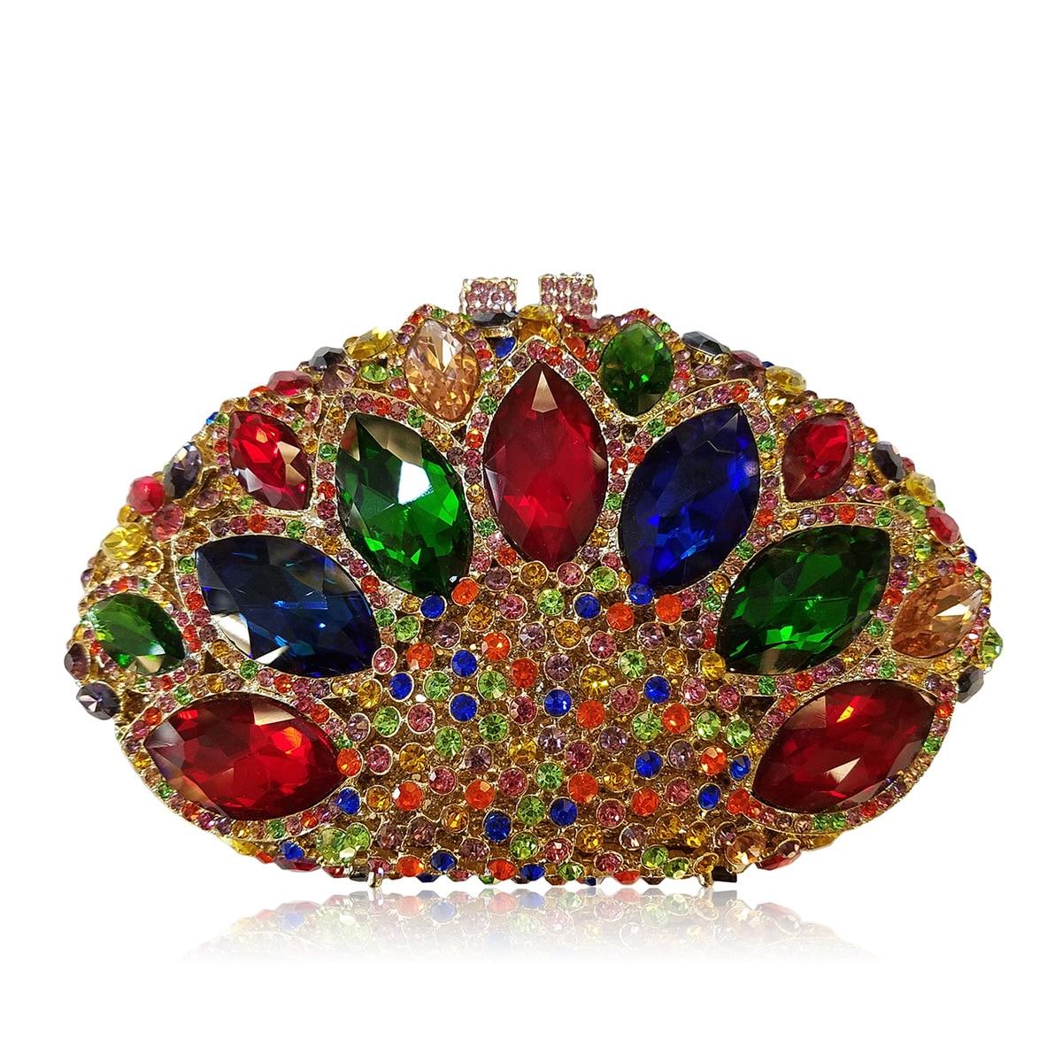 Wedding Diamond Floral Woman Bag Clutch Bag Sliver Crystal Handbags Sling Package Cell Phone Pocket Matching Bag Wallet Purse