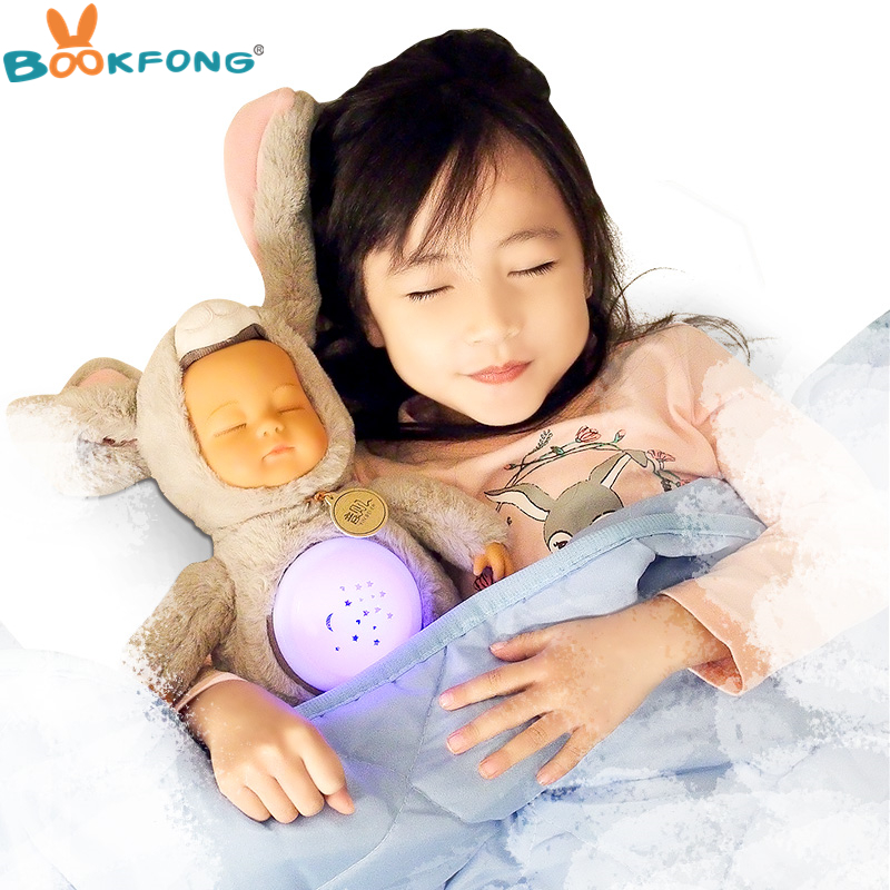 30cm Simulation Reborn Baby Appease Doll Sleeping Baby Plush Toy Educational Reading Story Doll Baby Kids Gift ...