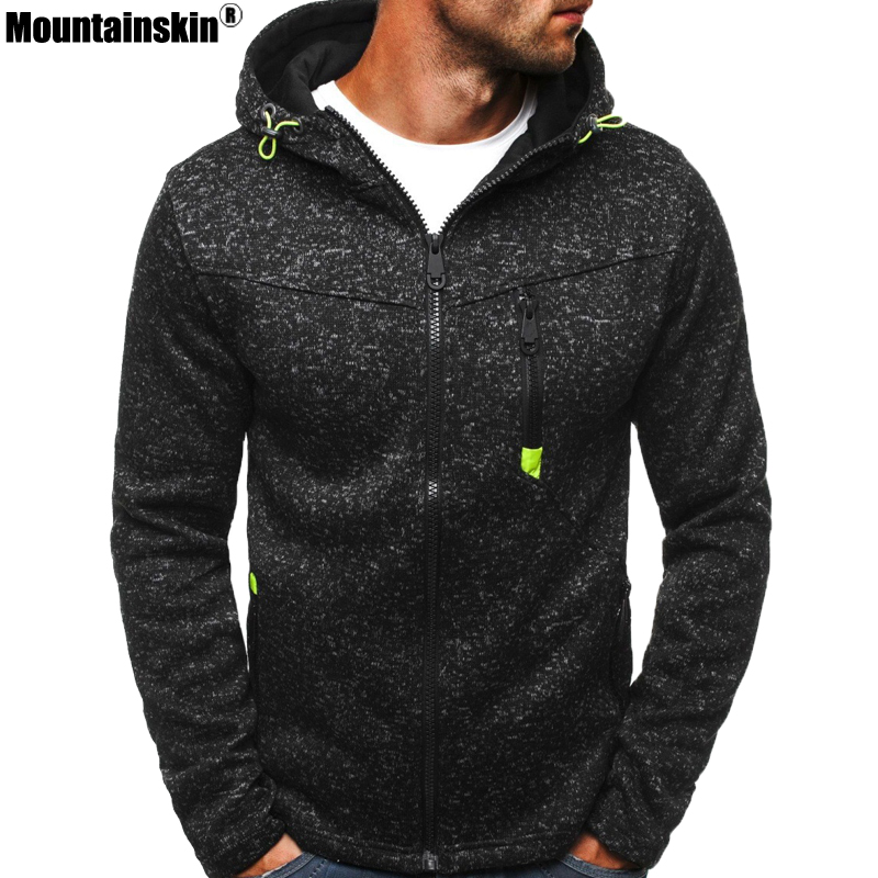 Mountainskin Men's Hoodies Spring Autumn Sportswear Long Sleeve Casual Hooded Coat Male Sweatshirt Mens Brand Clothing SA609
