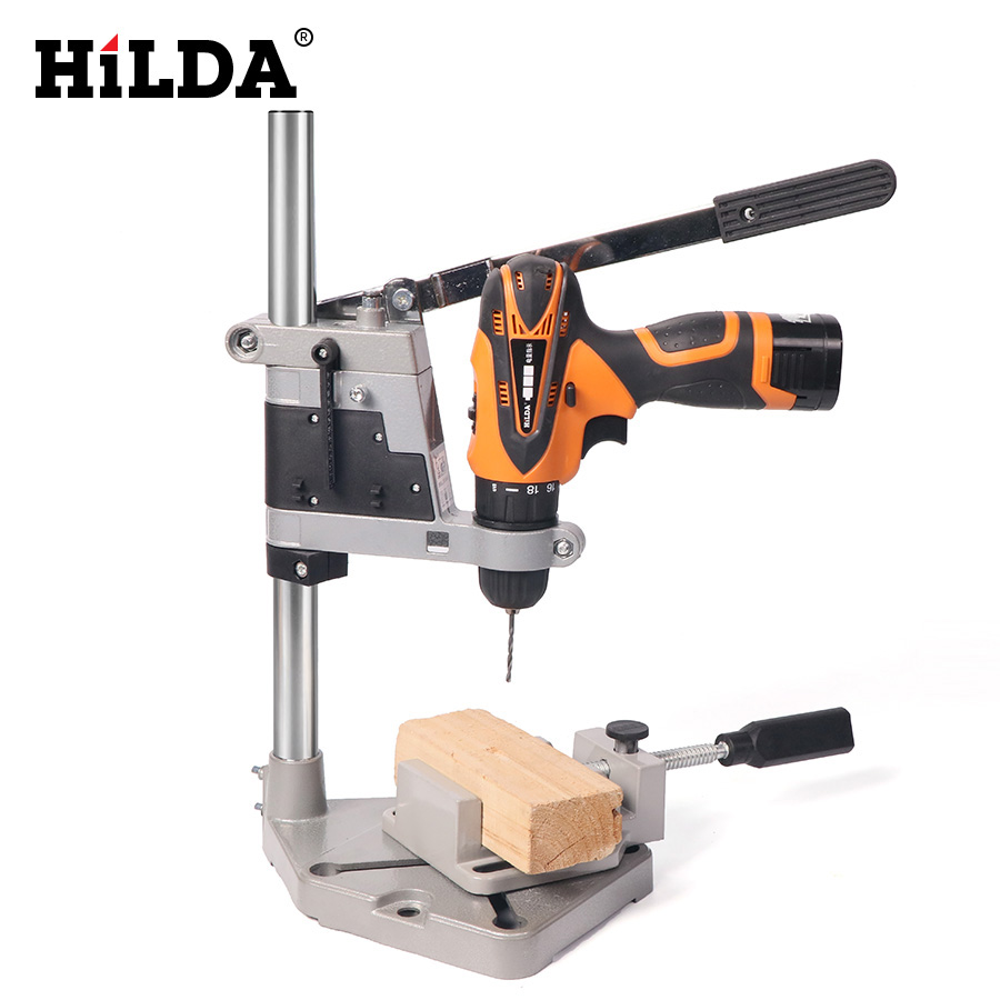 HILDA Dremel Style Drill Stand Power Tools Accessories Bench Drill Press Stand DIY Tool Base Frame Drill Holder Drill Chuck