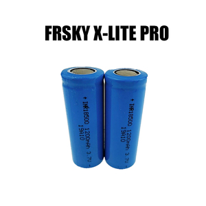 2pcs/lot ICR INR 18500/18650 Li-ion Rechargable Battery 3.7V 1200/2200 mAh with free charger for Frsky X-Lite Pro