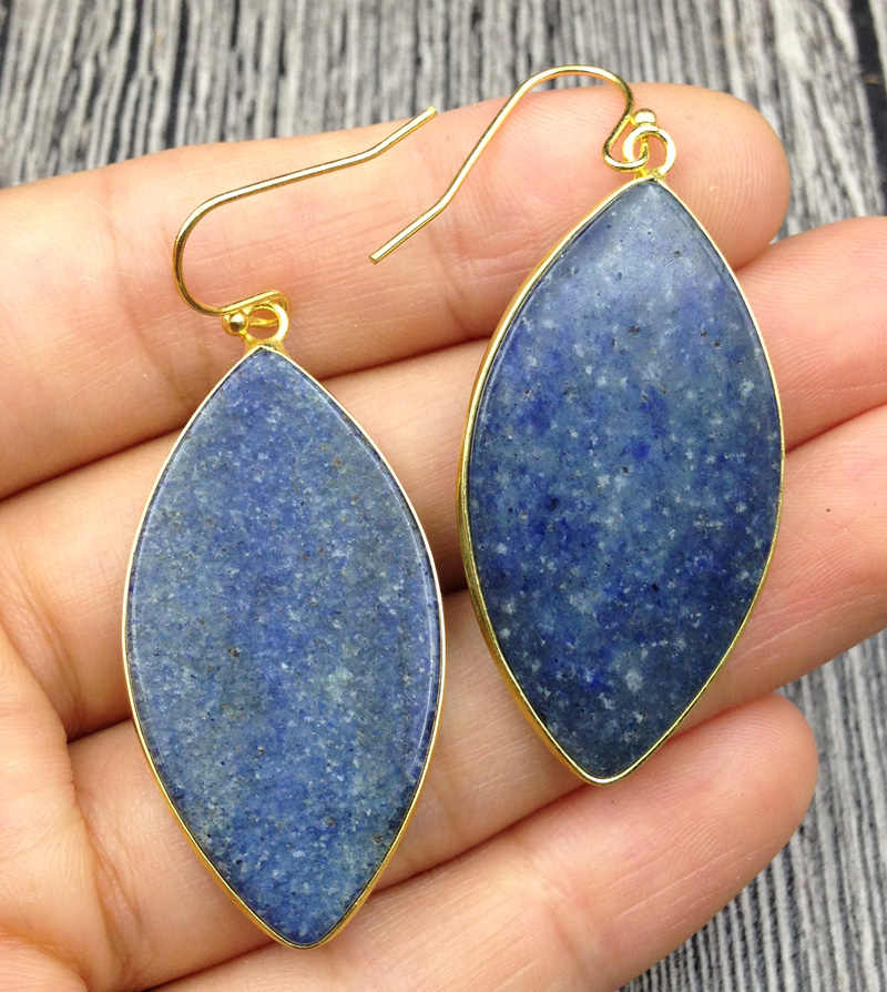 Blue aventurine earrings Long blue aventurine earrings.