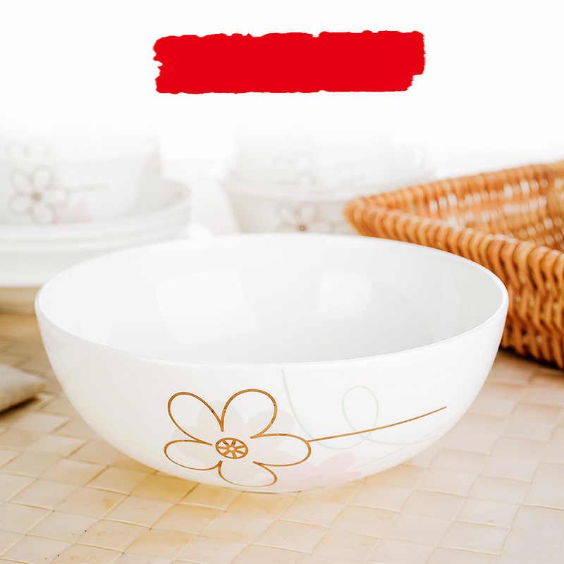 7 polegada, fine bone china tigela de sopa chinesa, tigela de cereais, recipientes de armazenamento de alimentos do compartimento, porcelana tigela de cristal