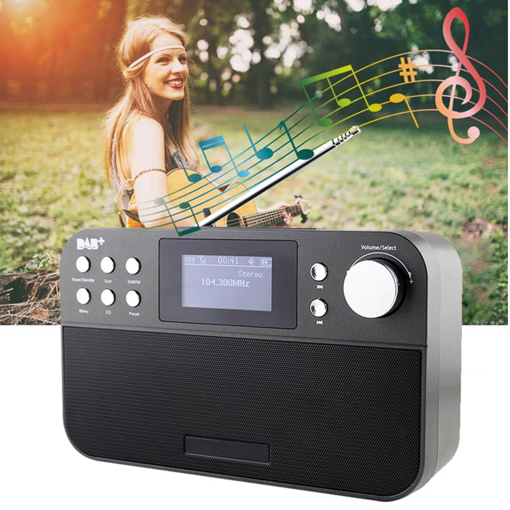 Haute qualité Radio professionnelle GTMedia DR-103B DAB Radio Stero pour le royaume-uni ue avec haut-parleur intégré Bluetooth opération facile