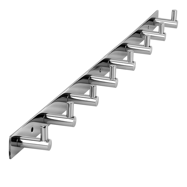 OGORI Titular Rack de 8 Cabides de Roupas Chapéu Dispositivo Elétrico de Banheiro Robe Gancho Cabide de Parede Inoxidável