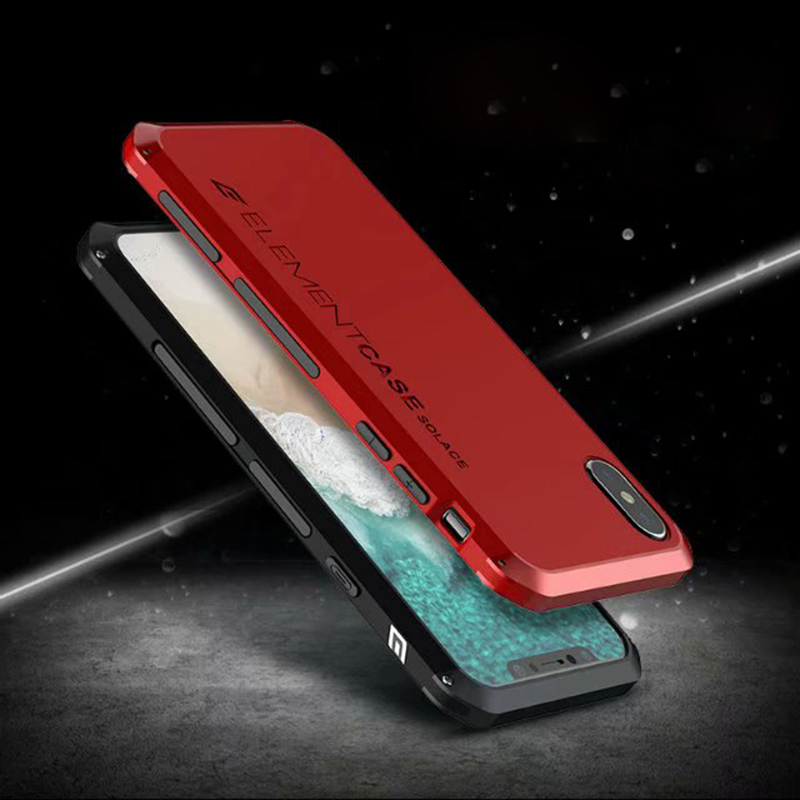 low priced c856f 8557c Element Armor Metal Iphone Case Hard PC Shockproof Coque Full Cover For  Iphone 6 6S 7 8 Plus X XR XS Case